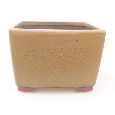 Ceramiczna miska bonsai 12 x 12 x 8 cm, kolor brązowy - 1