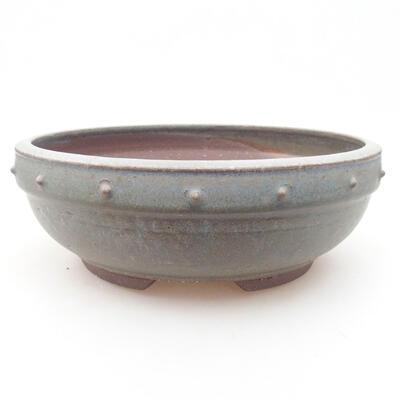 Ceramiczna miska bonsai 23 x 23 x 8 cm, kolor niebieski - 1