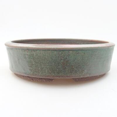 Ceramiczna miska bonsai 21 x 21 x 5,5 cm, kolor zielony - 1