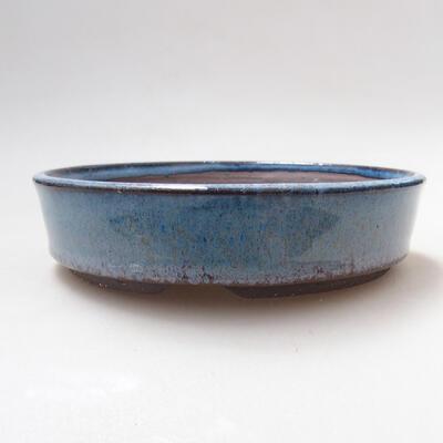 Ceramiczna miska bonsai 15,5 x 15,5 x 4 cm, kolor niebieski - 1