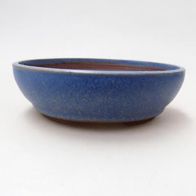 Ceramiczna miska bonsai 14,5 x 14,5 x 4,5 cm, kolor niebieski - 1