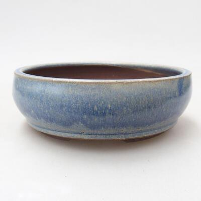 Ceramiczna miska bonsai 14,5 x 14,5 x 5 cm, kolor niebieski - 1