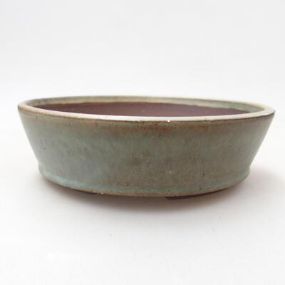 Ceramiczna miska bonsai 16 x 16 x 4,5 cm, kolor zielony - 1