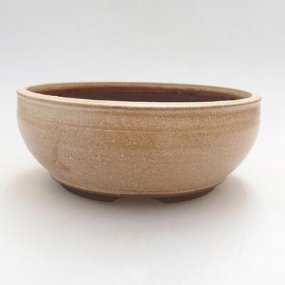 Ceramiczna miska bonsai 14,5 x 14,5 x 6 cm, kolor beżowy - 1