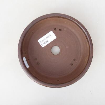 Ceramiczna miska bonsai 14,5 x 14,5 x 4,5 cm, kolor brązowy - 1
