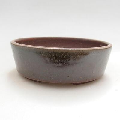 Ceramiczna miska bonsai 13,5 x 13,5 x 4,5 cm, kolor zielony - 1