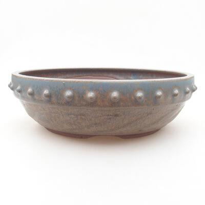 Ceramiczna miska bonsai 21 x 21 x 6 cm, kolor niebieski - 1