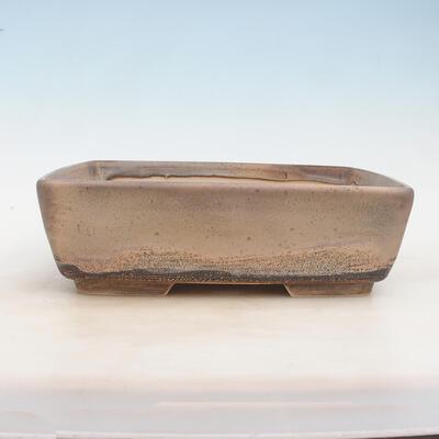 Miska Bonsai 30 x 23 x 9 cm, kolor szaro-beżowy - 1