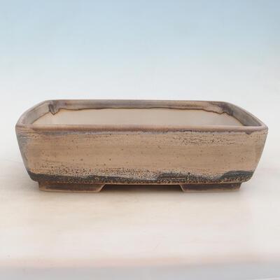Miska Bonsai 30 x 22 x 8 cm, kolor szaro-beżowy - 1