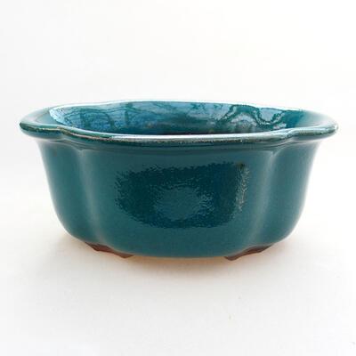 Ceramiczna miska bonsai 13 x 11 x 5,5 cm, kolor zielony - 1