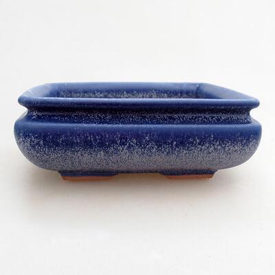 Ceramiczna miska bonsai 15,5 x 15,5 x 5,5 cm, kolor niebieski - 1