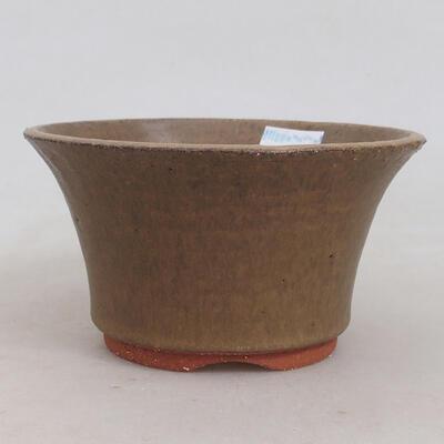 Ceramiczna miska bonsai 12 x 12 x 6,5 cm, kolor brązowy - 1
