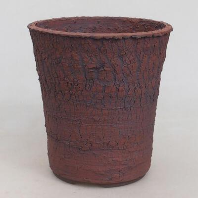 Ceramiczna miska bonsai 13,5 x 13,5 x 14,5 cm, kolor spękany - 1