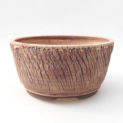 Ceramiczna miska bonsai 21,5 x 21,5 x 10,5 cm, kolor spękany - 1