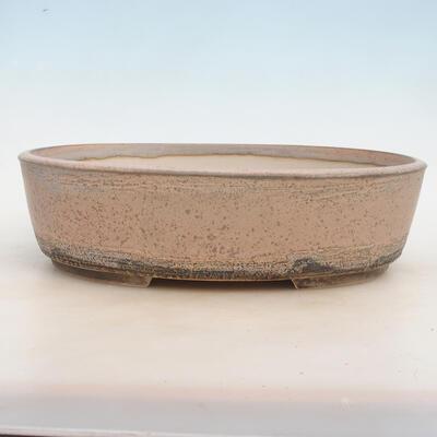 Miska Bonsai 33,5 x 26 x 9,5 cm, kolor szaro-beżowy - 1
