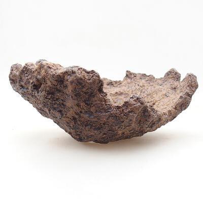 Ceramiczna skorupa 16 x 13 x 8 cm, kolor szary - 1