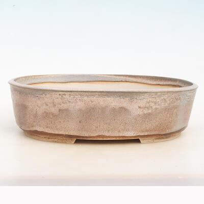 Miska Bonsai 34 x 26 x 9,5 cm, kolor szaro-beżowy - 1