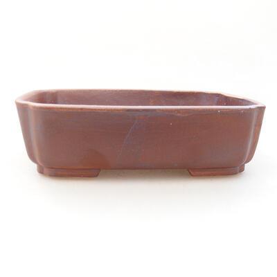 Ceramiczna miska bonsai 15 x 12 x 4,5 cm, kolor brązowy - 1