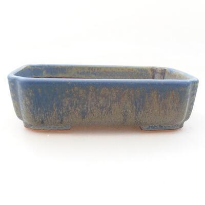 Ceramiczna miska bonsai 15 x 12 x 4,5 cm, kolor niebieski - 1