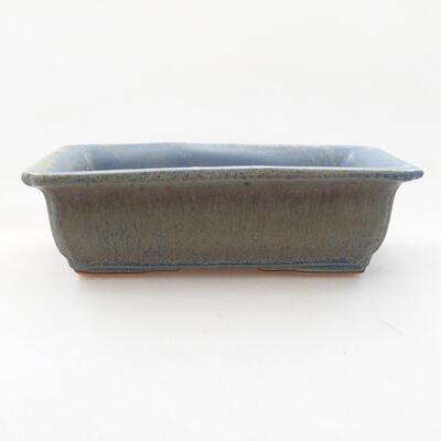 Ceramiczna miska bonsai 13,5 x 9,5 x 4 cm, kolor niebieski - 1