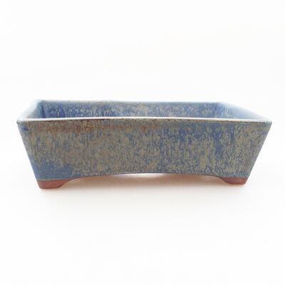 Ceramiczna miska bonsai 12 x 9 x 3,5 cm, kolor niebieski - 1