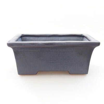 Ceramiczna miska bonsai 11 x 8,5 x 4,5 cm, kolor metalowy - 1