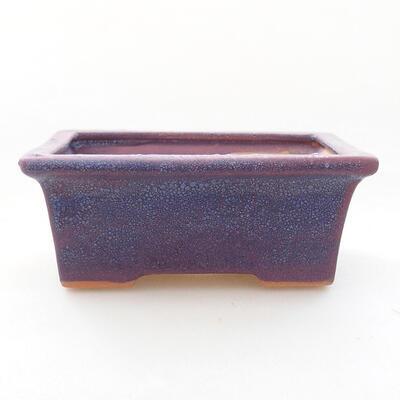 Ceramiczna miska bonsai 11 x 8,5 x 4,5 cm, kolor fioletowy - 1