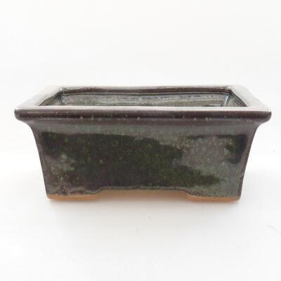 Ceramiczna miska bonsai 11 x 8,5 x 4,5 cm, kolor zielony - 1