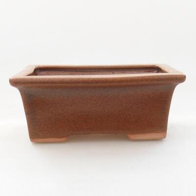 Ceramiczna miska bonsai 11 x 8,5 x 4,5 cm, kolor brązowy - 1