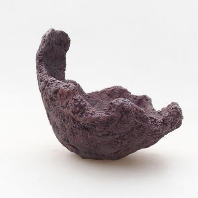 Ceramiczna skorupa 11 x 10 x 10,5 cm, kolor szary - 1