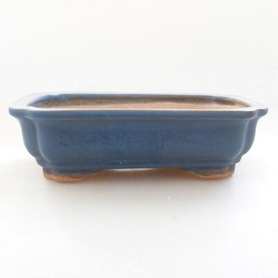 Ceramiczna miska bonsai 13 x 10,5 x 4 cm, kolor niebieski - 1