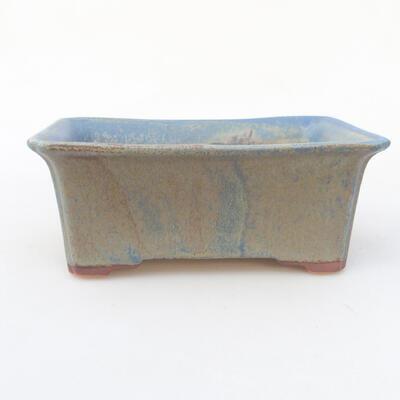Ceramiczna miska bonsai 18 x 14 x 7 cm, kolor niebieski - 1