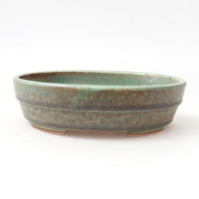Ceramiczna miska bonsai 13 x 10,5 x 3,5 cm, kolor zielony - 1