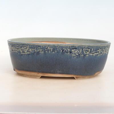 Miska Bonsai 30 x 23 x 10 cm, kolor niebiesko-zielony - 1