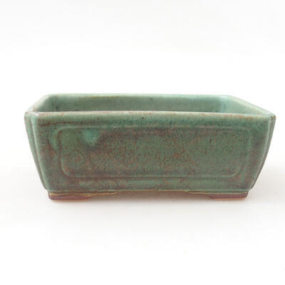 Ceramiczna miska bonsai 12,5 x 9 x 4,5 cm, kolor zielony - 1