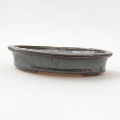Ceramiczna miska bonsai 12,5 x 10 x 2,5 cm, kolor zielony - 1