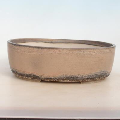 Miska Bonsai 31 x 24 x 10 cm, kolor szaro-beżowy - 1