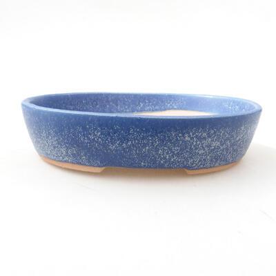 Ceramiczna miska bonsai 17 x 13,5 x 3,5 cm, kolor niebieski - 1