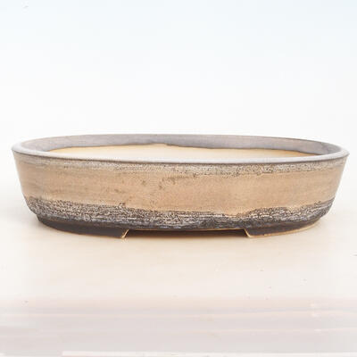 Miska Bonsai 33 x 25 x 7,5 cm, kolor szaro-beżowy - 1