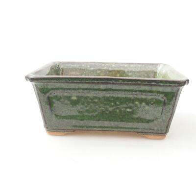 Ceramiczna miska bonsai 13 x 10 x 5 cm, kolor zielony - 1