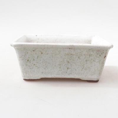 Ceramiczna miska bonsai 13 x 10 x 5 cm, kolor biały - 1