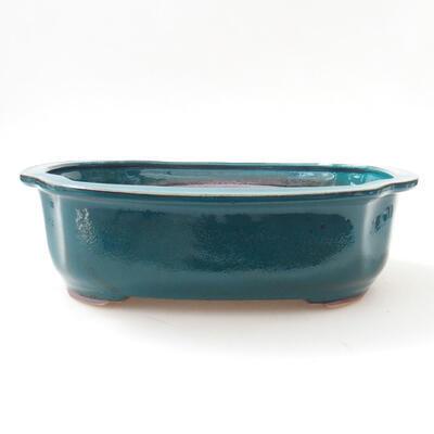 Ceramiczna miska bonsai 23 x 20 x 7 cm, kolor zielony - 1