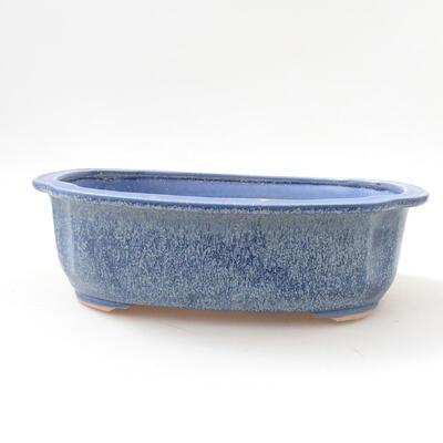 Ceramiczna miska bonsai 23 x 20 x 7 cm, kolor niebieski - 1