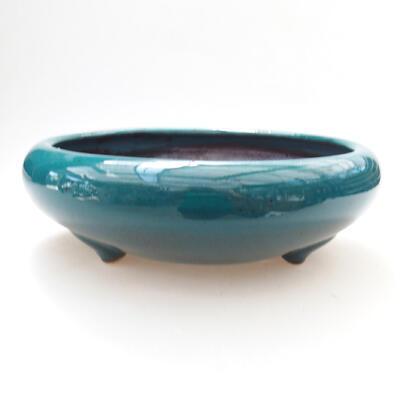 Ceramiczna miska bonsai 21 x 21 x 7 cm, kolor zielony - 1