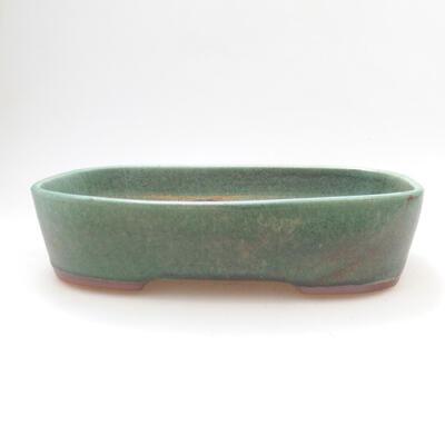 Ceramiczna miska bonsai 23 x 18 x 5,5 cm, kolor zielony - 1