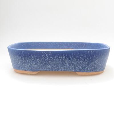 Ceramiczna miska bonsai 23 x 18 x 5,5 cm, kolor niebieski - 1