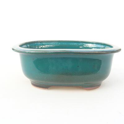 Ceramiczna miska bonsai 14 x 11 x 5,5 cm, kolor zielony - 1