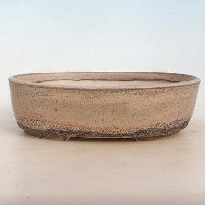 Miska Bonsai 29 x 23 x 8,5 cm, kolor szaro-beżowy - 1