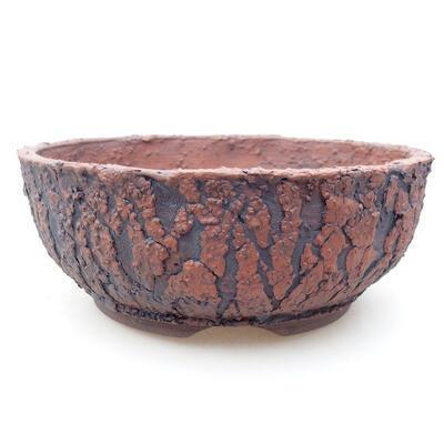 Ceramiczna miska bonsai 17 x 17 x 6,5 cm, kolor spękany - 1