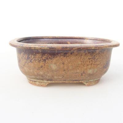 Ceramiczna miska bonsai 14 x 11 x 5,5 cm, kolor brązowy - 1